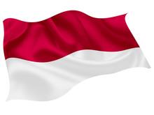 インドネシア   国旗 世界 アイコン