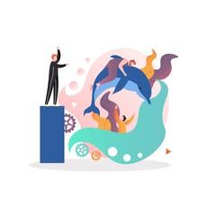 Dolphinarium Vector Concept Fo...