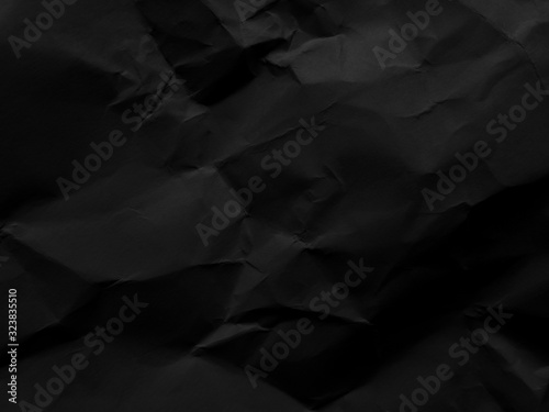 Fototapeta Black paper pattern abstract texture background. Dark backdrop. use design for product display or montage, advertising, food, beverages, technology, business, scary, horror, halloween. Top view obraz na płótnie