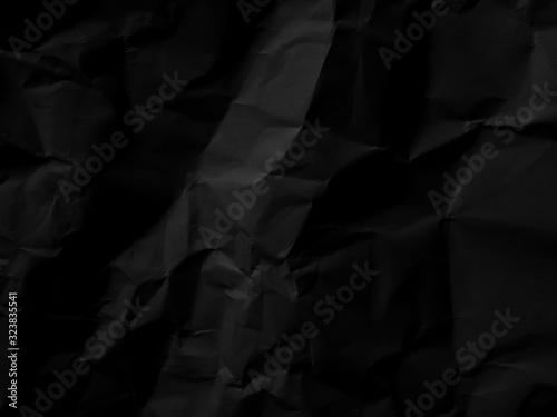 Fototapety, obrazy: Black paper pattern abstract texture background. Dark backdrop. use design for product display or montage, advertising, food, beverages, technology, business, scary, horror, halloween. Top view