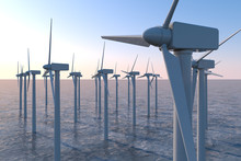 Wind Turbines Above Sea Level....