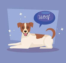 Cute Spotted Dog With Speech B...