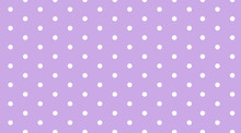 Background Template With Polka Dots On Purple Wall