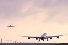 Airplane Landing At Los Angele...