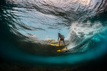Underwater View Of The Surfer ...