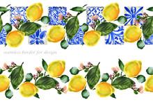 Seamless Pattern With Lemons. ...