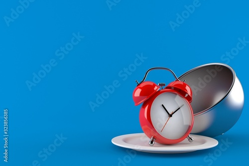 Alarm clock with catering dome Wallpaper Mural