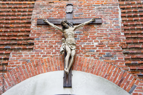 Photo Crucifixion with Jesus. Background for Christianity and religion.