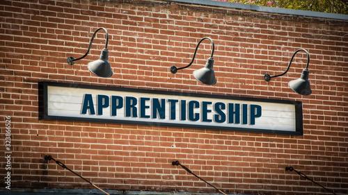 Photo Street Sign to Apprenticeship