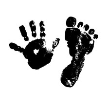 Imprint Baby Palm And Foot. Bl...