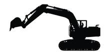 Excavator Silhouette Vector,he...