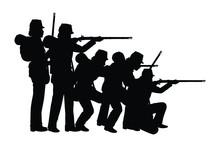 Civil War Soldier Troop Silhou...