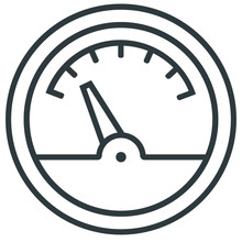 Electricity Meter Line Icon On...