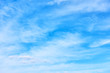 Blue sky with light clouds - smooth background