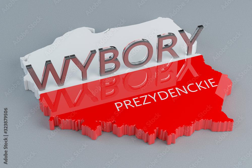 Fototapeta Wybory prezydenckie w Polsce - ilustracja 3D