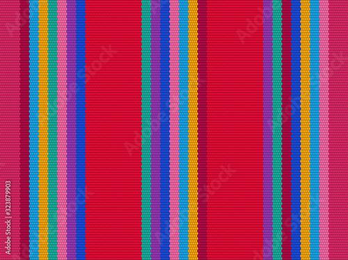 Blanket stripes vector pattern Fototapet