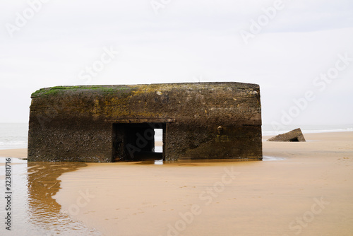 Remnant of German bunker blockhouse blockhaus of the second world war Canvas Print