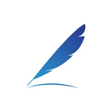 Feather Illustration Logo Vector