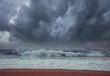 canvas print picture Storm weather on sea