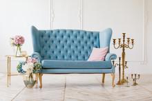 White Living Room With Elegant...