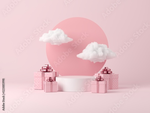 Abstract background, mock up scene geometry shape podium for product display or celebrate Fotobehang