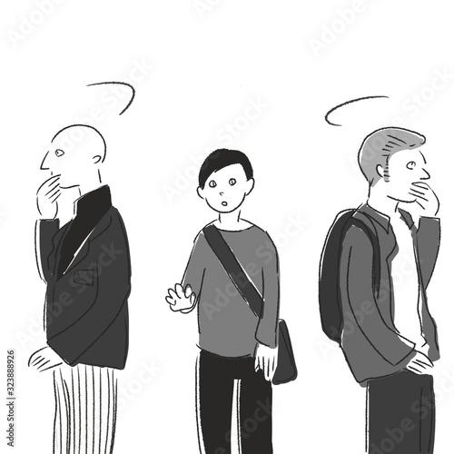 Fototapeta 新型コロナウイルス関連 (4)アジア人 差別