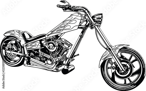 Fototapeta Chopper Vector Illustration