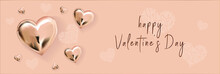 Happy Valentine S Day. Gold In...