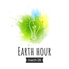 Illustration Of Earth Hour. Ma...