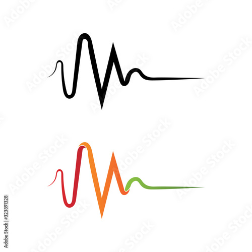 Sound waves vector illustration design template Wallpaper Mural