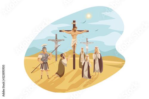 Crucifixion of Christ, Bible concept Canvas Print