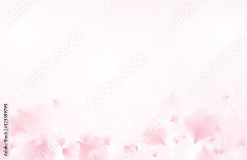 Photo Petals of pink rose spa background