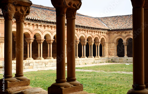 cloister of saint pedro cathedral,soria,spain
