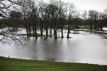 Rickerby Park In Flood Becouse Of Storm Desmond In Carlisle