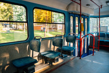 Inside Of Old Tram In Moscow, ...