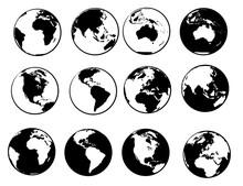 Planet Earth Vector Set Collec...