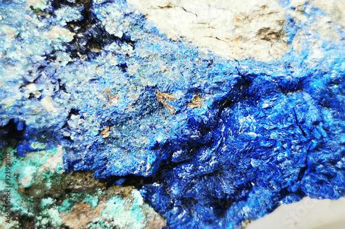 Photo blue azurite mineral texture