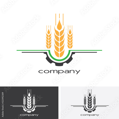 Agriculture Logo Template Design Canvas Print