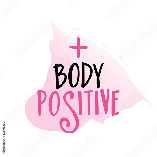 Body positive - Happy self acceptable quotes Wallpaper Mural