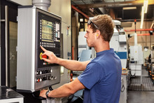 Skilled Worker Controlling A D...