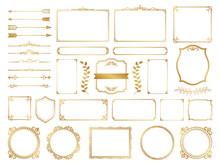飾り罫 フレーム ゴールド セット