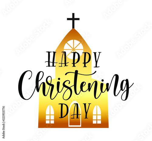 Obraz na plátne Happy Christening Day