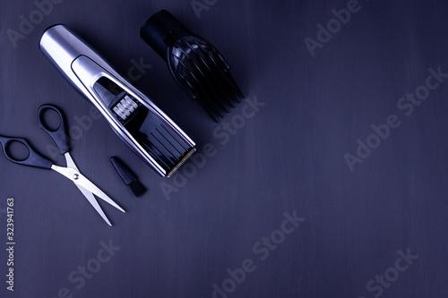 Photo hair clipper black background