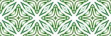Arabesque Green Hand Drawn Des...