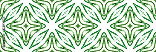 Photo Arabesque green hand drawn design. Textile ready