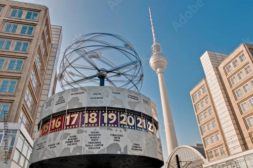 Photo The Weltzeituhr at Alexanderplatz in Berlin