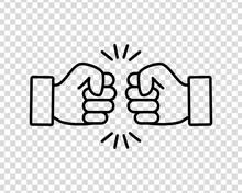 Bro Fist Bump Or Power Five Po...