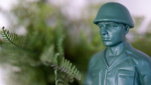 Green Toy Soldier Hiding In Th...