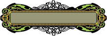 Frame And Borders Colored And Black White. Thai And Ornamental Pattern. Vector Illustration.