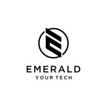 Creative Illustration Modern E Sign Geometric Logo Design Template